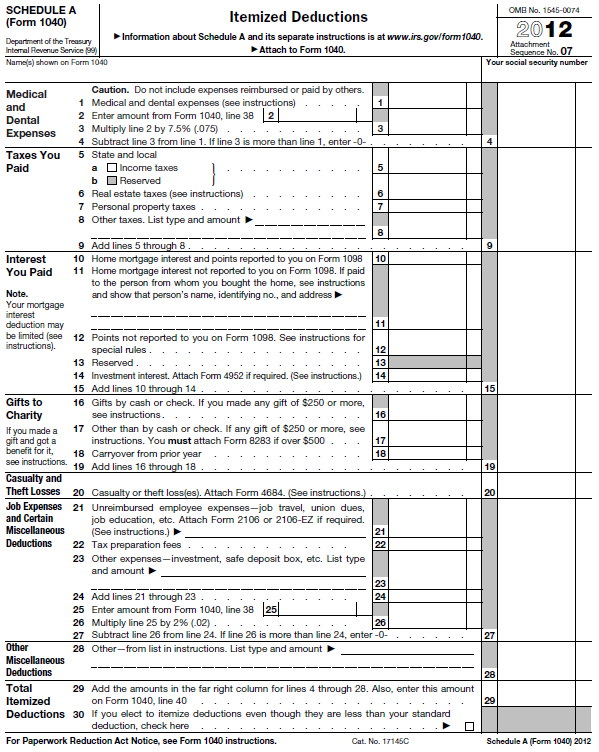 Irs Form 1040a Instructions 2012 Image Information